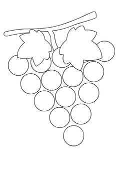 grapes Bible School Crafts, Preschool Crafts, Diy And Crafts, Crafts For Kids, Arts And Crafts, Shapes Worksheets, Stencil Templates, Pumpkin Crafts, Autumn Activities