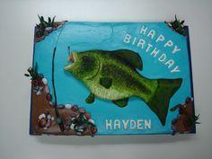 Fishing+Birthday+Cakes+for+Men | Crappie Fish Cake