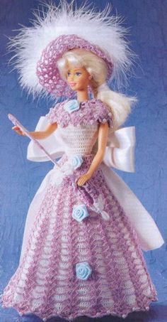 Sunday dress for Ms. Barbie with diagram