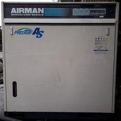 Bán máy nén khí cũ hiệu Airman advanced screw sas-22 b. Công suất 22 kW, có hệ thống tách ẩm.