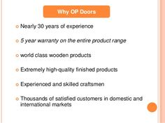 At #OPDoors, we supply an extensive variety of #WoodenDoors and #KitchenFurniture which fulfills the requirement of each and every House.The most product portfolio of OP Doors: Wooden Doors, Wood and Glass Doors, Exterior Doors, Interior Doors, Kitchen Furniture, #WoodenWardrobe, Wooden #WindowShutters, Kitchen Shutters, Solid Wood Doors, Panel Doors, Carved Doors and more.