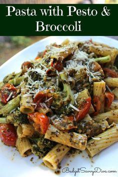 nice Pasta with Pesto and Broccoli Recipe...