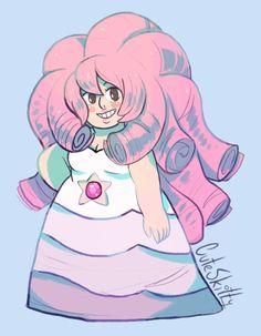 OP: I felt like drawing a Rose sticker, she's such a cutie ^^ | Steven Universe