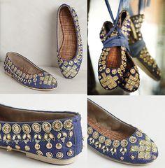 Jeweled Ballet Flats_blue_gold