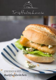 Ein norddeutscher Sandwich-Klassiker: Backfischbrötchen mit Remoulade