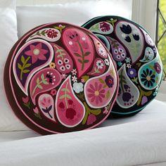 Paisley Toss Pillow | PBteen $15.99 so cute