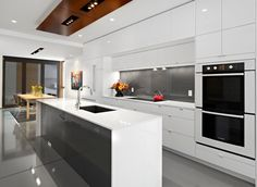 Modern White And Black Kitchens kitchen of the day: modern kitchen with luxury appliances, black