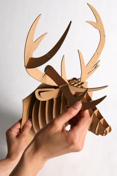 Cardboard Taxidermy (from urban outfitters) would look cool spray painted a bright color
