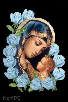 #FondosDePantalla #Cristianos para el teléfono celular Hermosa ilustración de la Virgen María