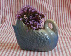 Miniature Blue Swan Vase or Planter, Vintage Decor, Powder Blue http://etsy.me/2EIMbjw #vintage #collectibles #blue #swan #holder #vase #miniature #tiny #bird #blueswan #swan #miniatureswan #swanvase #swanplanter #fairygarden #shopsmall #tinythings #etsysellsvintage