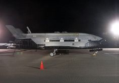 X-37B unmanned space plane.