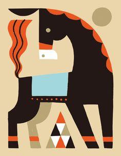 Animals 04 on Behance - By Shunsuke Satake Horse Illustration, Graphic Design Illustration, Animal Graphic, Graphic Art, Easy Canvas Art, Indian Folk Art, Art Drawings For Kids, Exhibition Poster, Geometric Art