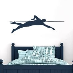Swimmer Sports Wall Decals, Stickers