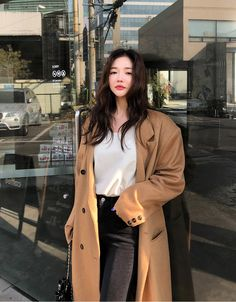 Going Back To You Over Fit Long Coat - CHUU #chuu#chuuxoxo#koreastyle#kpop#koreafashion#ootd#kfashion#dailylook Boujee Outfits, Dance Outfits, Cool Outfits, Fashion Outfits, Korean Girl Fashion, Ulzzang Fashion, Korean Street Fashion, Korean Winter Outfits, Korean Outfits