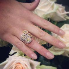 We are having trouble picking just one! #yellowdiamonds #engagementrings #McCaskillandCompany #newjewelry #diamondsareagirlsbestfriend #sparkle #manimonday