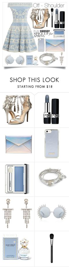 """""""Spring"""" by andybbau ❤ liked on Polyvore featuring Marchesa, Christian Dior, Rebecca Minkoff, Clinique, Lizzy James, Cathy Waterman, Linda Farrow, Marc Jacobs, MAC Cosmetics and Alexander McQueen"""