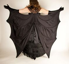 EvaDress: Photographic Follow-up, the 1887 Silk Bat OH MY GODDESS I NEED THIS!