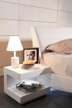 Modrest Esso Modern White Glossy Nightstand - Nightstands - Bedroom