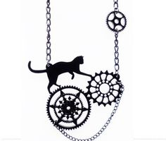 Steampunk cat necklace And this... Cherry Loco