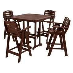 Have to have it. POLYWOOD® Nautical Bar Set - Seats 4 - $1895 @hayneedle