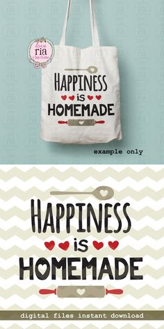 Happiness is homemade home cooking baking by LoveRiaCharlotte