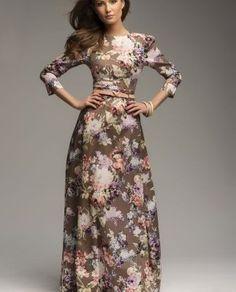 платье в пол с цветочным принтом - Buscar con Google