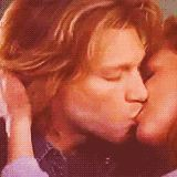 "Jon Bon Jovi in ""Moonlight and Valentino"" movie. **WARNING: This kiss is a little racy**"