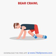 Go back to the basics to get a stronger and fitter body.  Crawling is a development movement pattern. It improves your health, strength, mobility and your ability to focus. Try out this exercise and many more effective ones from the 7 Daily Moves app.  Download the app @ www.7dailymoves.com  #homeworkouts #bodyweight #HIIT #Pilates #Yoga #Dumbbells #motivation #consistency #cardio #strength #7dailymoves #stayfit #movemore #sittingkills #fitfam #health #fatloss #freeapp #weightloss #goal #