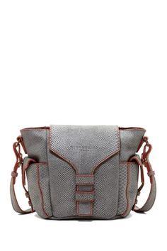 Fleur Snake Print Leather Handbag