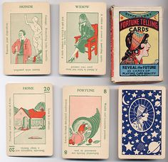 From the early 1930s. It was referenced in an illustrated novel I read, The Scrapbook of Frankie Pratt by Caroline Preston. I would love to own a deck, but a complete deck is very rare.