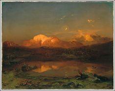 Carl Anton Joseph Rottmann (1797-1850), Der Hohe Göll mit dem Hintersee - 1846.