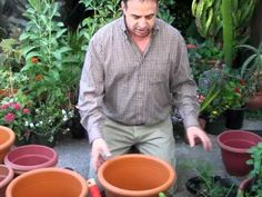 How to drill your pots for planting.