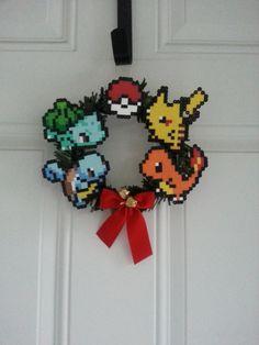Pokemon Christmas Wreath by BurritoPrincess on Etsy