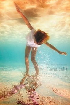 Do you know Elena Kalis' work? Her underwater photographies are simply amazing.