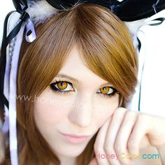 37d9c12173b3 Orange Manson Color Contact Lens - Circle Contact Lens - Cosmetic Contact  Lens - Colored Contacts