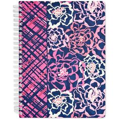 Vera Bradley Mini Notebook with Pocket ($12) ❤ liked on Polyvore featuring home, home decor, stationery and katalina pink