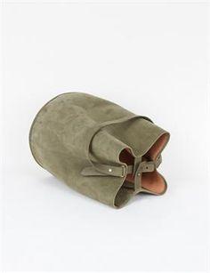 Creatures of Comfort Bucket Bag Large- Nubuck Olive