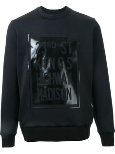 Ovadia & Sons street plaque print sweatshirt