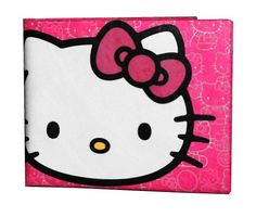 Hello Kitty wallet made out of Tyvek. Great for little ones or your adult friend who is a Hello Kitty lover! Great stocking stuffer!