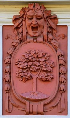 Art Nouveau Decorative element of the facade of one of the notable Art Nouveau buildings in Jablonec nad Nisou,Czech republic (foto: Milan Bajer)