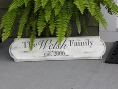cheap, easy to make personalized home plaque