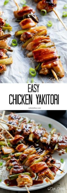 Easy Chicken Yakitori! A popular Japanese street food you can make just as good at home!