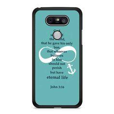 Bible Verse John 3 16 Turquoise LG G5 Case Dewantary