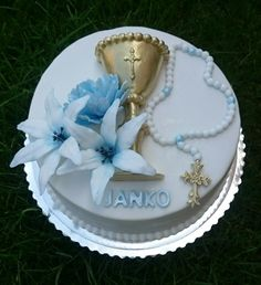First holy communion cake by AndyCake