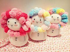 Kawaii bonito do arco-íris Sock Doll, Sock Flor Coelho / Lion, Sock Animals, Plush animais, as crianças-Friendly, Handmade Home Decor, presentes artesanais
