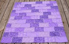 Rag Quilt - Shades of Purple Quilted Blanket/Throw/ Baby Blanket Baby Rag Quilts, Lap Quilts, Handmade Soaps, Handmade Art, Purple Quilts, Quilt Patterns, Quilting Ideas, Shades Of Purple, Soy Candles