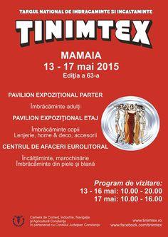 Targul National de Imbracaminte si Incaltaminte 13 - 17 mai 2015 Pavilionul Expozitional Constanta Centrul de Afaceri Eurolitoral