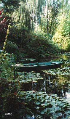 Artist's Reference Photos: Claude Monet's Garden at Giverny: Monet's Garden at Giverny: Pond Boat