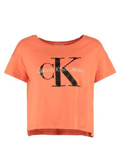 Crop top t-shirt rose/orange Calvin Klein