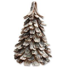 Nävergran | How to make a christmas tree using birch bark strips